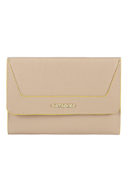 Lady Saffiano II SLG Medium Ladies' Wallet with 12 Credit Card Slots and External Zip