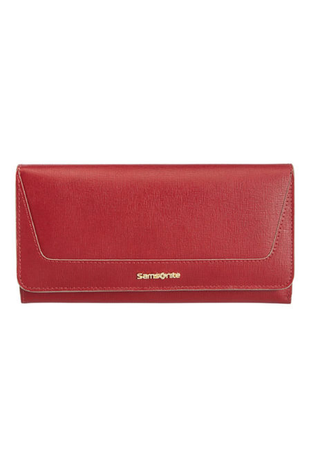 Lady Saffiano II SLG Ladies' Wallet with 14 Credit Card Slots
