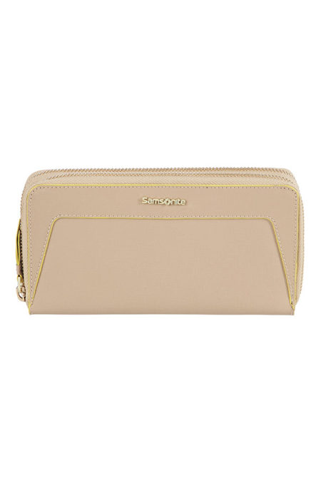 Lady Saffiano II SLG Large Double Zip Around Wallet